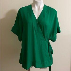 WORTHINGTON Wrap green blouse size 0X